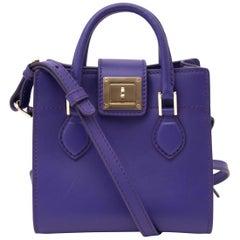 Roberto Cavalli Purple Box Shoulder Bag