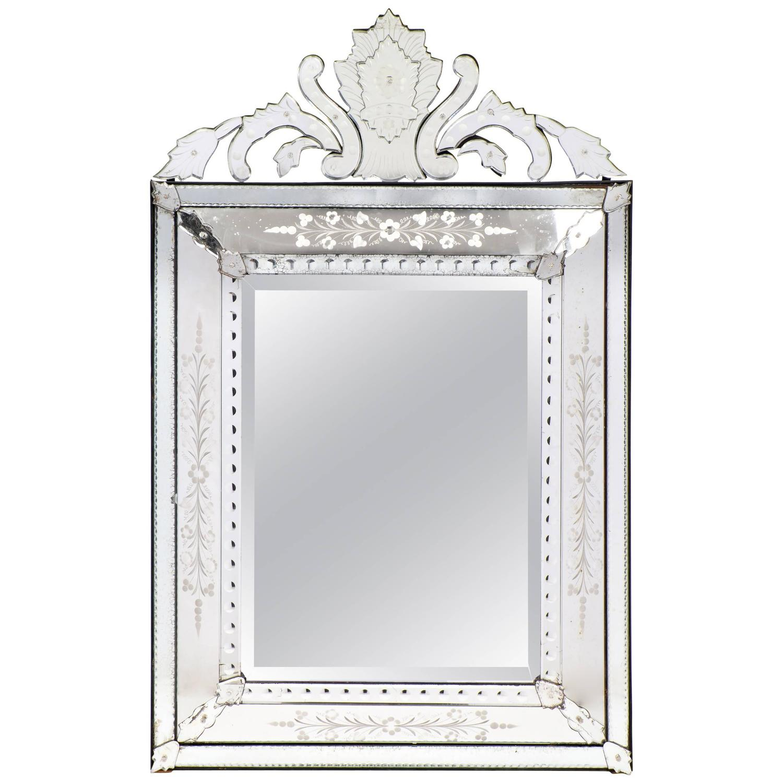 Venetian-glass mirror, ca. 1900
