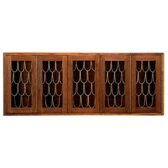 Rare and Early Walnut Wall Hanging Cabinet by Paul Evans and Phillip Powell