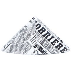 Fornasetti Newspaper Hat Paperweight