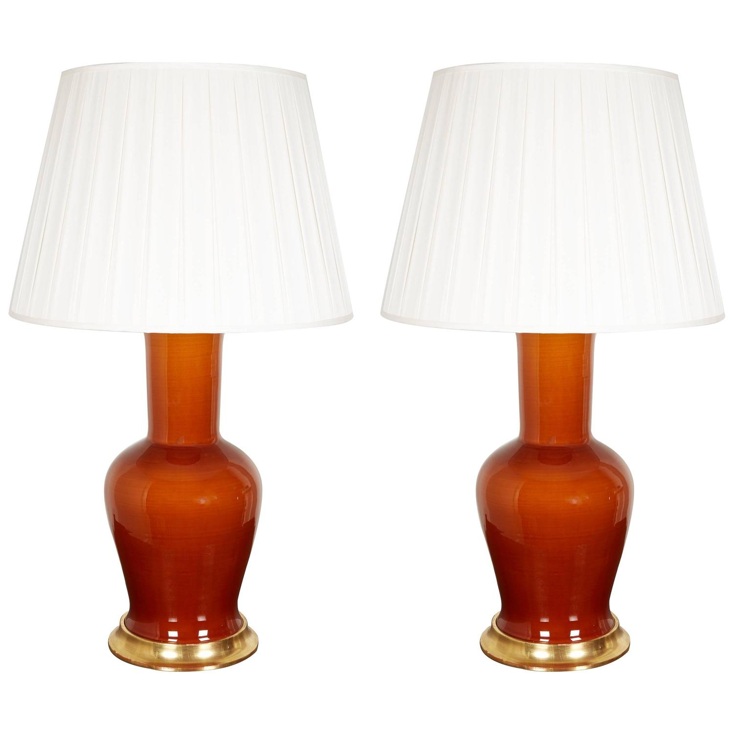 Pair of Christopher Spitzmiller lamps,late-20th century