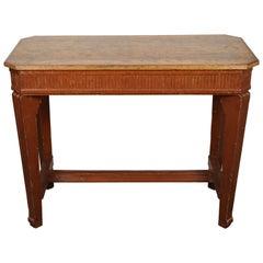 1840s French Oak Wood Console Sideboard