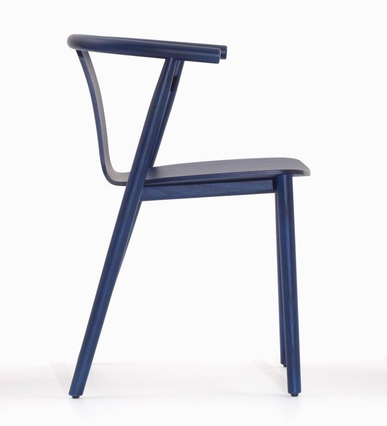 For Sale: Blue (118_BLUE SHANGHAI ANILINE ASH) Jasper Morrison Bac Stool in Solid Ashwood for Cappellini 2
