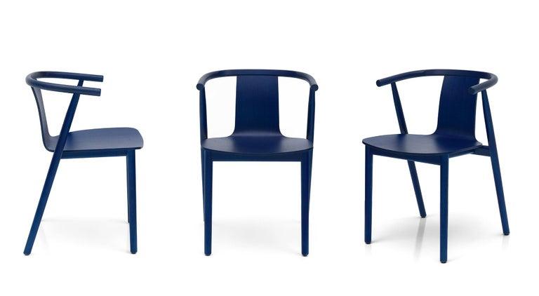 For Sale: Blue (118_BLUE SHANGHAI ANILINE ASH) Jasper Morrison Bac Stool in Solid Ashwood for Cappellini 4
