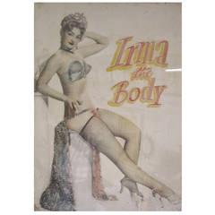 """Irma the Body"" Burlesque Performer Poster"