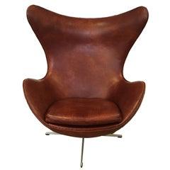 Arne Jacobsen Egg Chair Produced by Fritz Hansen, 1965