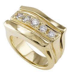 Rigoberto Diamond Gold Ring