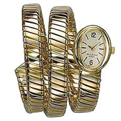 Bulgari Lady's Tricolor Gold Tubogas mechanical Wristwatch