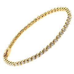 Cartier Diamond Gold Tennis Bracelet