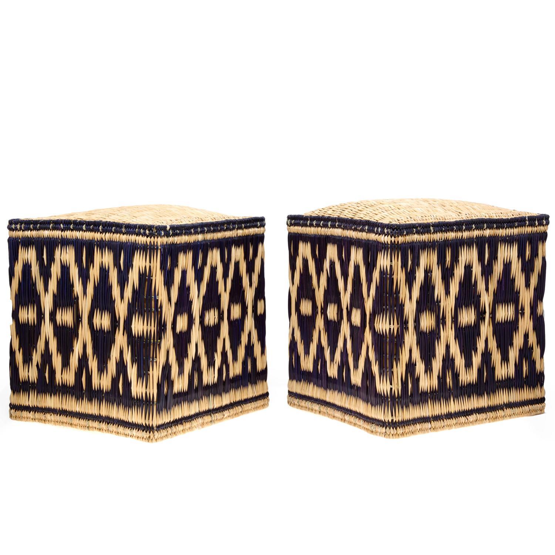 Moroccan wicker stools, 2016
