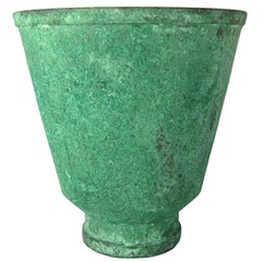 Marie Zimmermann American Arts and Crafts Vase with Encrusted Verdigris Patina