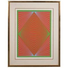 "Richard Anuszkiewicz ""Diamond Chroma"" Screenprint in Colors, 1965"