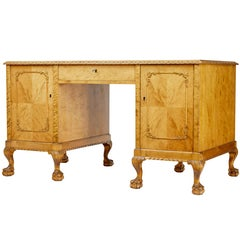 Early 20th Century Swedish Birch Writing Desk