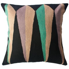 Zimbabwe Root Winter Hand Embroidered Modern Geometric Throw Pillow Cover