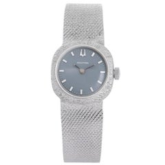Accutron Bulova White Gold Quartz Wristwatch
