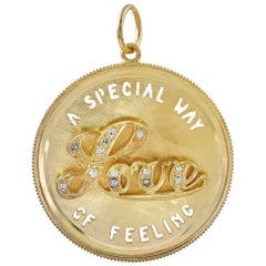 Gold and Diamond Love Charm