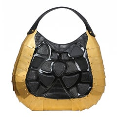 Massive One of a Kind Alexander McQueen Exotic Skins & Brass Armor Bag 2007