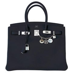 Hermes Black Togo 35cm Birkin Palladium Hardware Bag Perfect Gift!