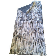 Multi-Color Sheer Fur Throw with Cashmere Backing