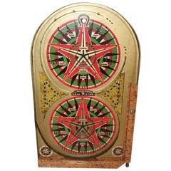 Lindstrom's Gold Star Marble Game Board, Dated 1934