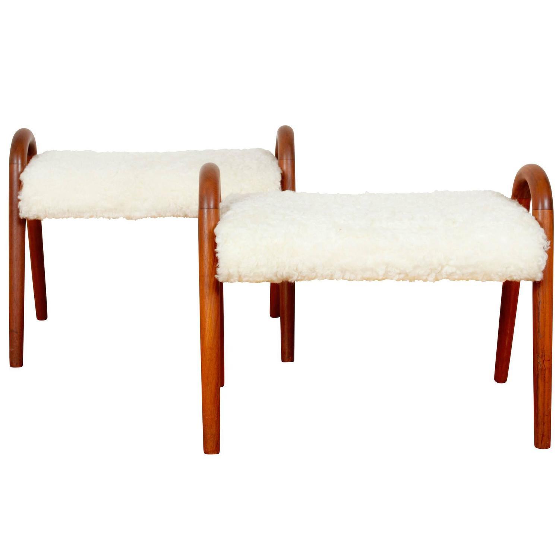 Vilhelm Lauritzen stools, 1940s