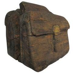 """Ol' Saddlebags"" Folk Art Carved Sculpture"