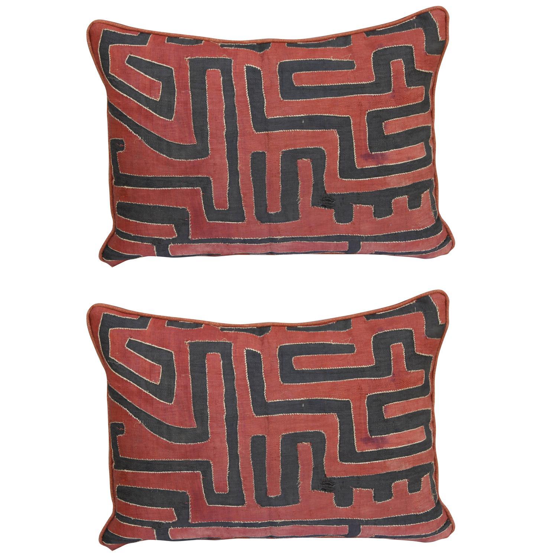 Kuba cloth pillows, 1940s