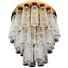 Large MidCentury Cascade Style Limburg Glas Pendant Light Chandelier,  1960s