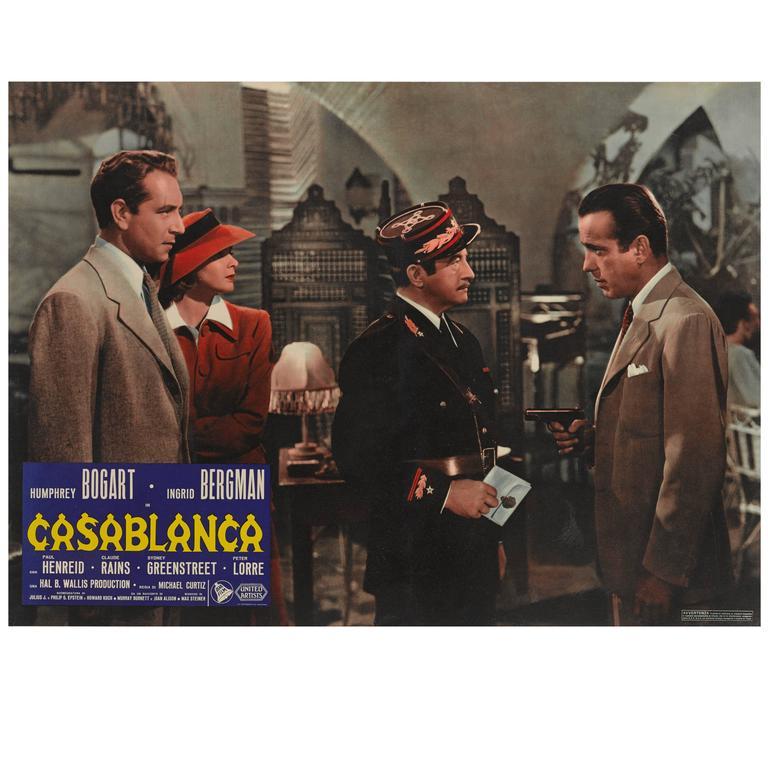 Original casablanca movie poster prices