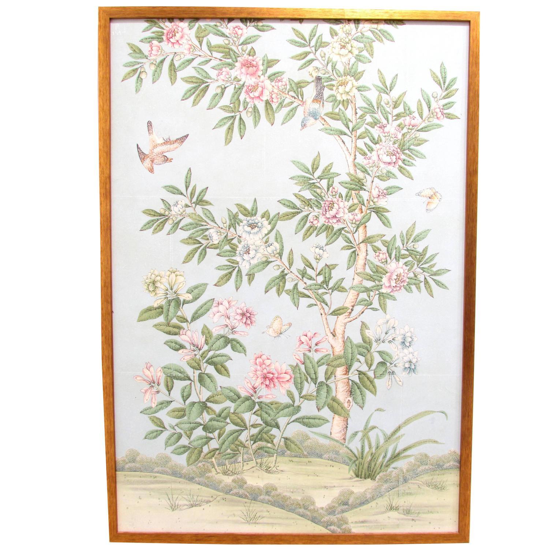 Chinoiserie wallpaper panels