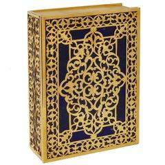 Art and Crafts  Gilt  Silver and Lapislazzuli Memories Luxury Box