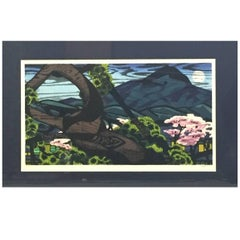 "Clifton Karhu Limited Edition Japanese Woodblock Print ""Kamigano"""