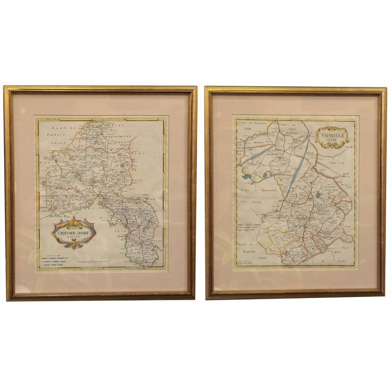 Maps of Oxfordshire and Cambridgeshire, 18th century