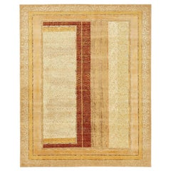 """""""Farozaan"""" Red Gold Hand-Knotted Area Rug"""