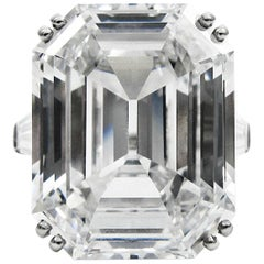 Harry Winston Magnificent 22.91 ct GIA Cert. D Color Flawless emerald cut ring