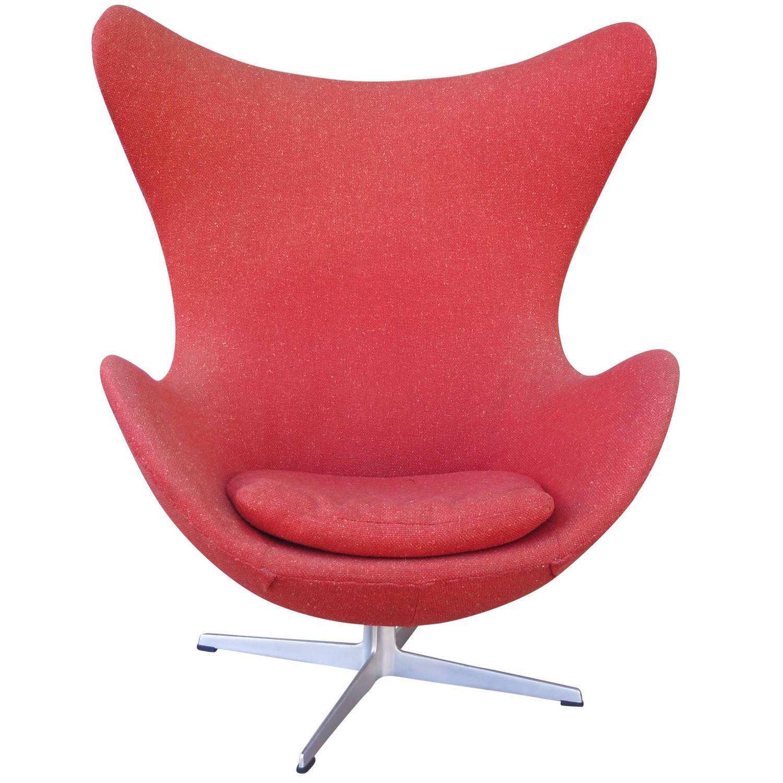 Classics designers arne jacobsen egg chair replica in cowhide - Original Arne Jacobsen Egg Chair In Upholstery Fritz Overview