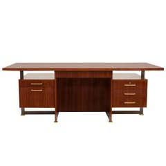 Maison Leleu Rare Desk with Extension, France, 1966