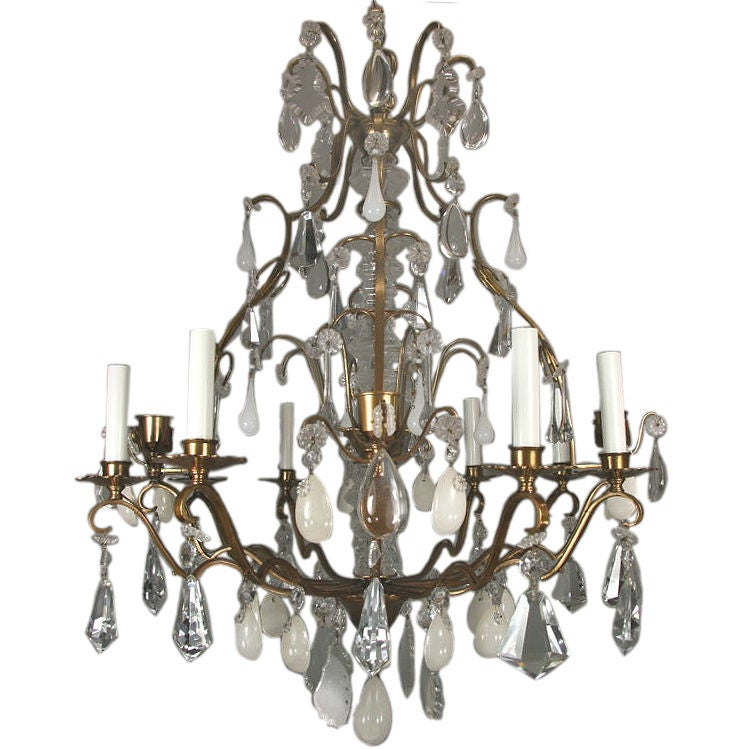 On Sale Eight Arm White Onyx Crystal Chandelier At Stdibs