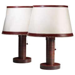 Pair of Paul Dupré-Lafon Table Lamps