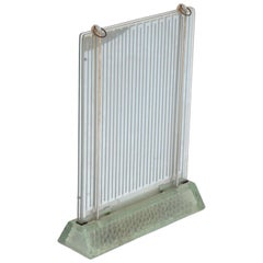Rare Museum-quality Glass Radiator by René Coulon for Saint-Gobain