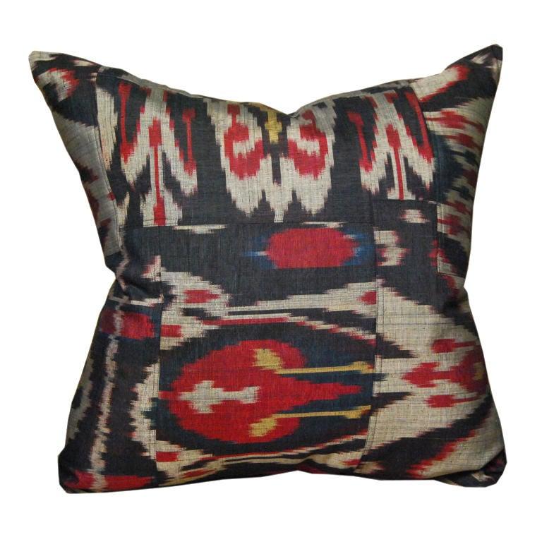 Indonesian ikat pillow, ca. 1950