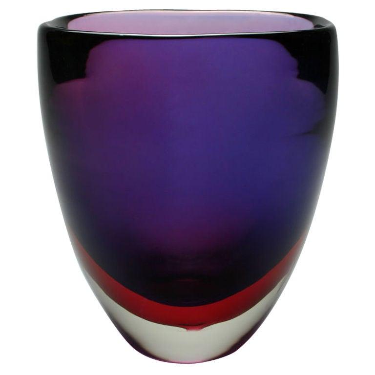 Sommerso Vase By Flavio Poli At 1stdibs