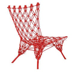 Limited Edition Rouge Knotted Chair by Marcel Wanders