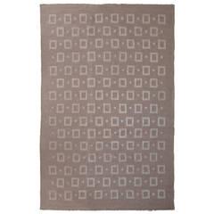 "Finnish Modernist 114"" Carpet or Rug, Handwoven"