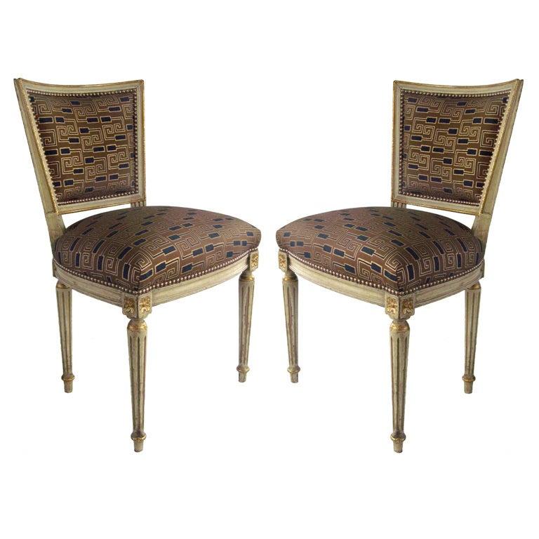 Louis XVI side chairs, 19th century