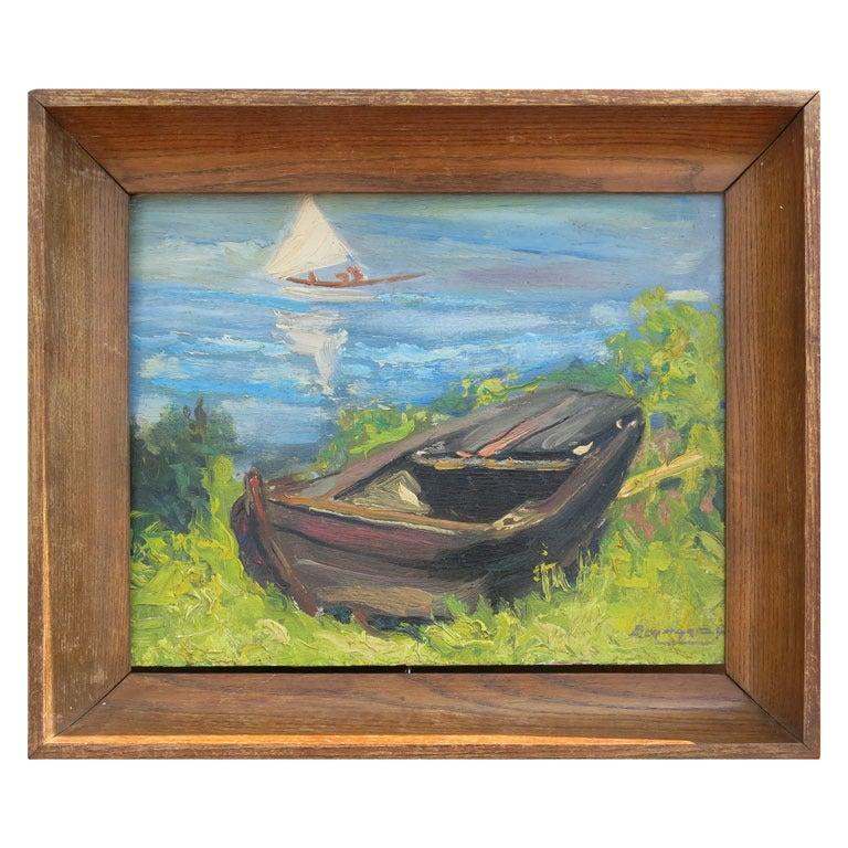 Boat painting, 19th century