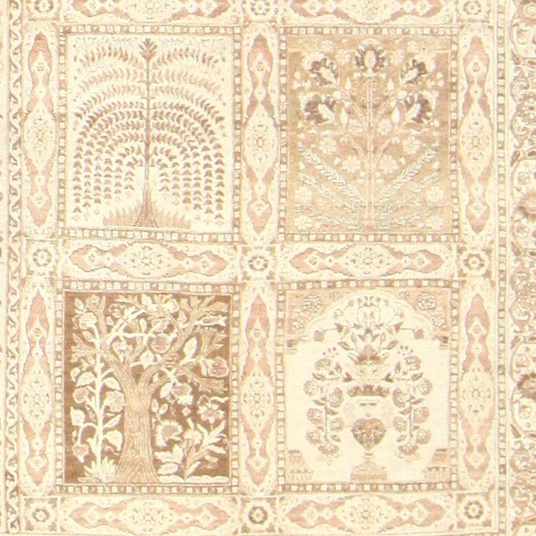 Wool Large Antique Tabriz Garden Design Persian Rug. Size: 12 ft x 17 ft 2 in For Sale