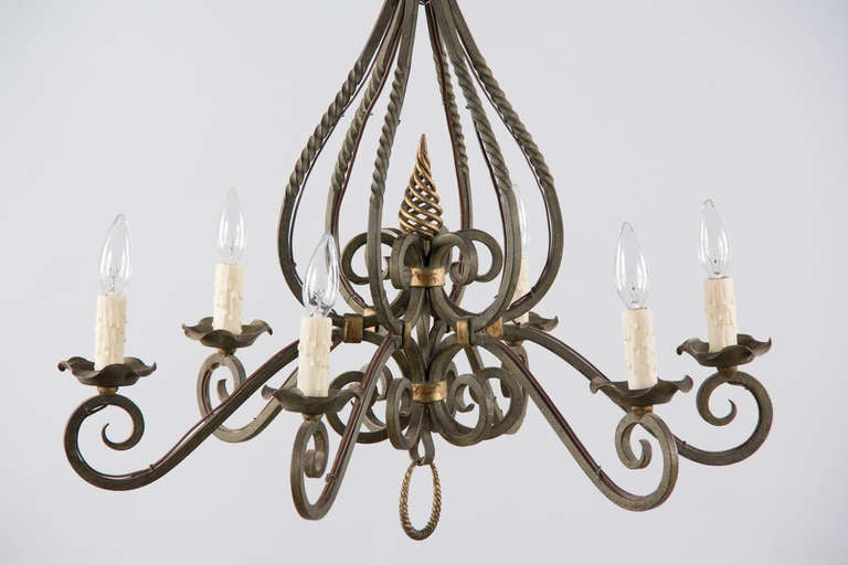 S French Iron Chandelier At Stdibs