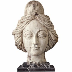 American Carnival Wagon or Band Organ Carved Female Head