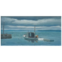 "Oil on Panel Entitled ""Blandford Bay II"" by Harry Leith-Ross"